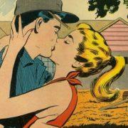 Bob and Flo kiss